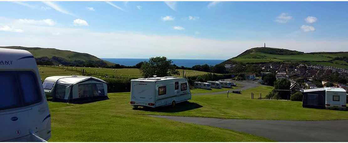 View From Midfield Caravan Park